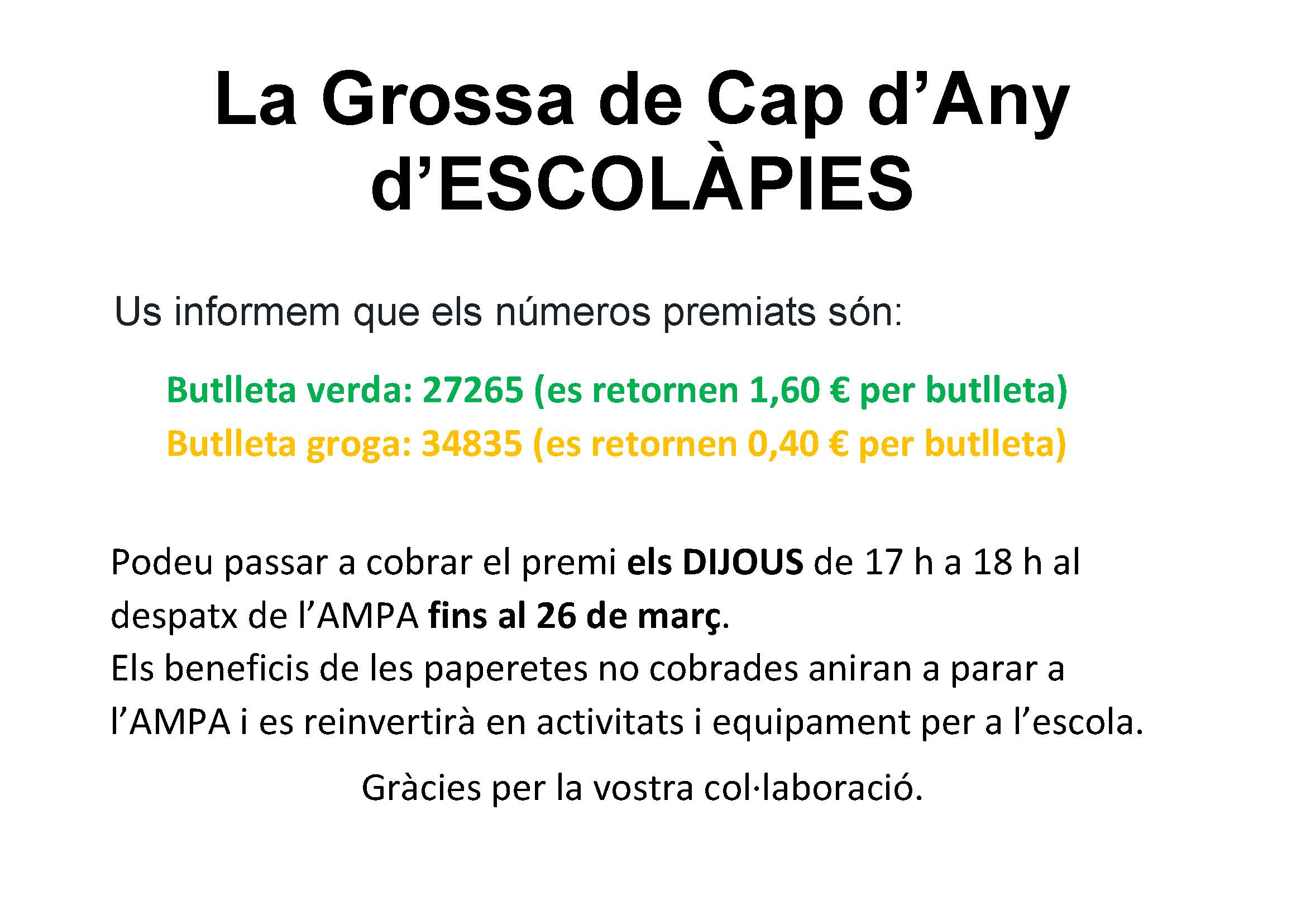 La Grossa de Cap d'Any